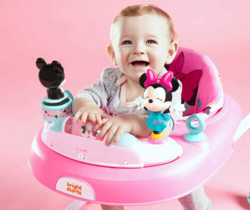 Disney Baby Pink Minnie Mouse Stars & Smiles Baby Walker