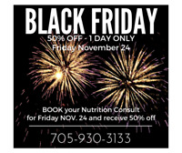 NUTRITION CONSULT - BLACK FRIDAY SPECIAL BOOKING
