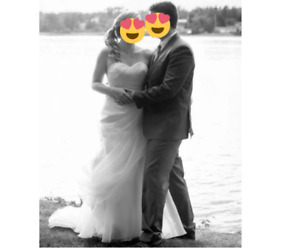 Romantic Bridal Wedding Dress with Sweetheart Neckline