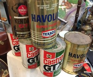 Vintage Full Oil Tins