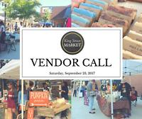 King Street Market 2017 - VENDOR CALL