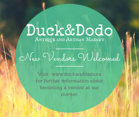 Duck&Dodo Antique and  Artisan Market - New Vendors Welcomed