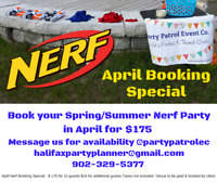 Nerf Party - April Booking Special $175