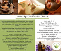 Aromatherapy Spa Certification Course