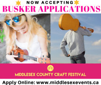 Buskers Wanted! Middlesex County Craft Festival