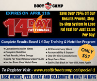 14 Day Fat Furnace – Brantford  Fitness & Fat Loss Program