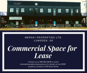 Commercial Space for Lease, Lumsden, SK