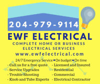 Electrician -Licensed-Insured-Great Rates 204-979-9114