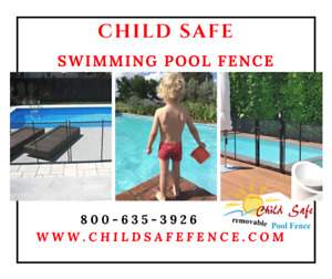 REMOVABLE POOL FENCE Norfolk County: Child Barrier, CHILD SAFE