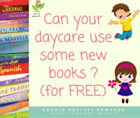 Want new, FREE  books for your Daycare or home library?
