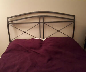 Queen size bed with frame and headboard/footboard