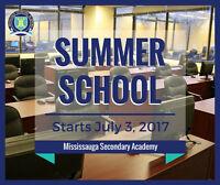 Licensed Summer School Grade 9 - 12 Classes in Mississauga