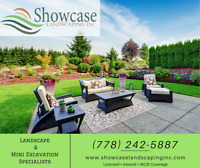 Showcase Landscaping Inc. ---> Hardscape, Excavation, Bobcat