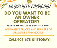 DO YOU NEED TRUCK, TRAILER OR ANY EQUIPMENT FINANCING ?