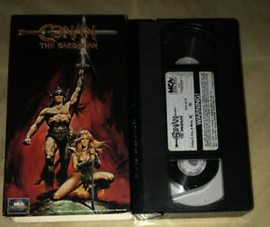 Conan the Barbarian VHS Arnold Schwarzenegger MCA video