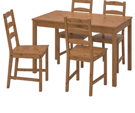IKEA JOKKMOKK antique stain table and chairs