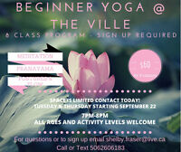 8 Class Beginner Yoga Program