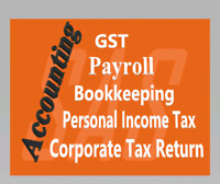 Bookkeeping , Payroll , GST, and Tax Preparation Services