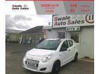 2012 SUZUKI ALTO SZ 1L - 65,392 MILES - FULL SERVICE HISTORY - FREE TAX BRACKET