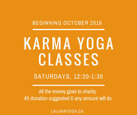 YOGA CLASS - $5 - ALL THE MONEY GOES TO CHARITY!
