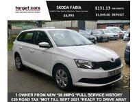2016 Skoda Fabia 1.0 MPI S 5 Door Petrol Estate In White With 1 Owner From New E