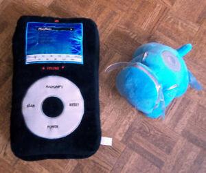 Blue i-Dog Music Speaker & Plush iPod/MP3 Radio Speaker Pillow