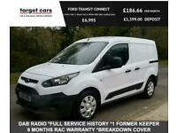 2015 Ford Transit Connect 1.6TDCI 200 L1 Diesel Van In White With Side Loading D