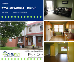 Hfx - 3Br 3.5 Bath Townhouse with Basin View Oct 15