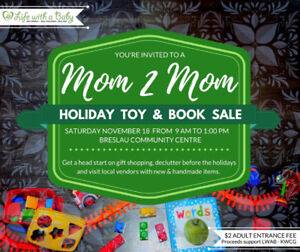 Mom2Mom Holiday Toy and Book Sale!