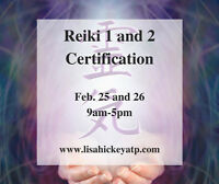 Reiki 1 and 2 Certification with Lisa Hickey