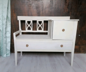 Bench with cupboard and drawer