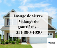 Vidange de gouttières-  Fenêtres - Ménage - Entretien ! BROSSARD