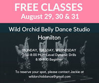FREE Belly Dance Classes at Wild Orchid