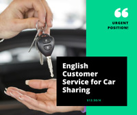 Customer Service Agent Car Sharing Company (Not for Students)