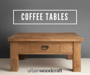 Modern Rustic SOLID WOOD Coffee Tables