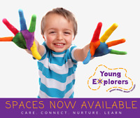 Spaces Now Available: 2-6 years