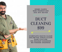 Brampton, Mississauga  $99 Duct Cleaning new offer 647-955-8531