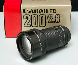 Canon 200mm 2.8 FDn Fast Telephoto Lens * Mint in Box *