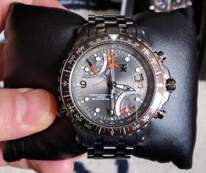 Timex TX730 Fly Back IP Chronograph grey steel bracelet
