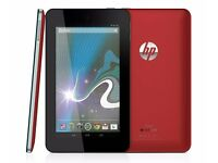 """Hp slate 7"""" tablet, as new boxed, red £45 fixed price"""