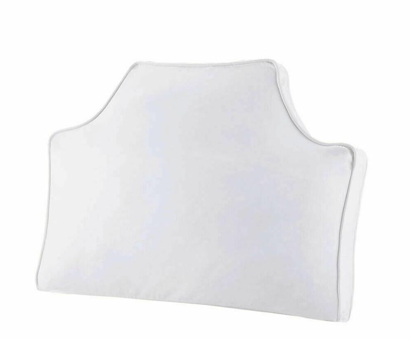 "Intelligent Design Headboard Pillow White  34"" x 26"" x 2"""