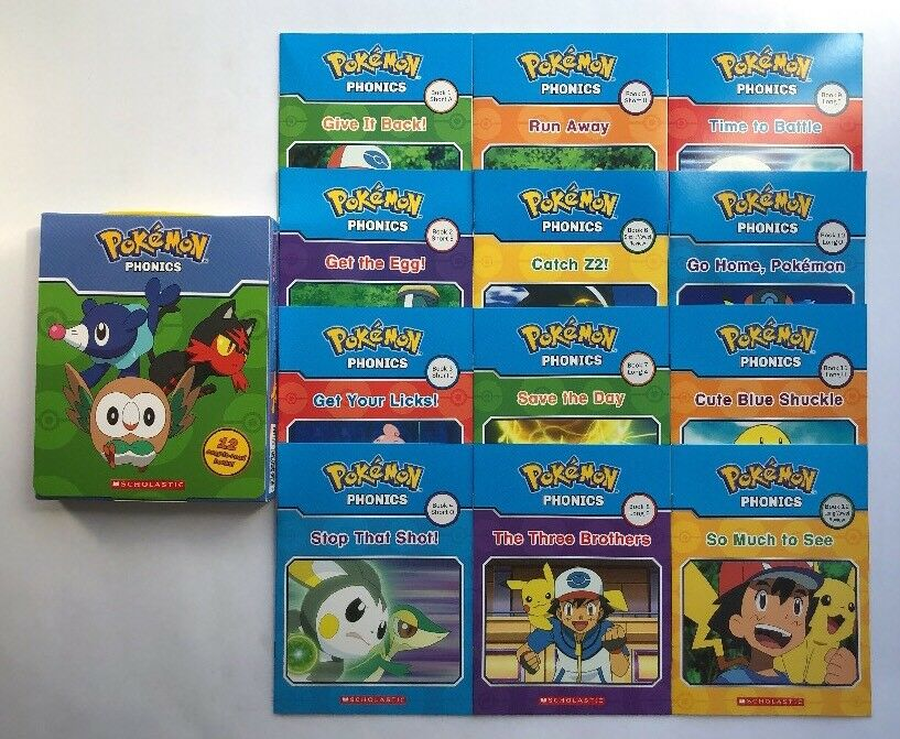 Pokemon Phonics Childrens Books Learning to Read Early Reade