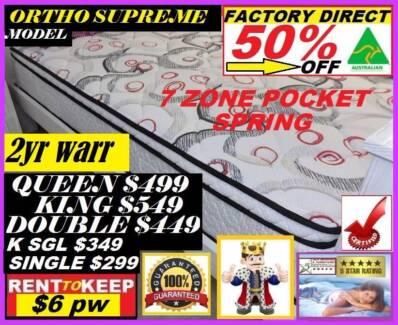 NEW 7 Zone Ortho Supreme Plush Pillow Top Mattress