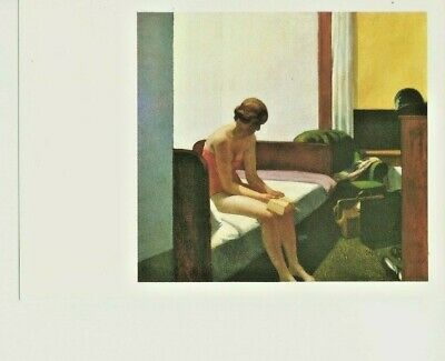 "Postcard Edward Hopper (1882-1967) ""Hotel Room 1931"" Oil on Canvas - NrMint"