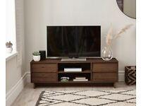 Leon 4 Drawer Wide TV Unit In Walnut Effect