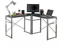 Corner desk - black