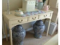 Laura Ashley Clifton Ivory Console Hall Table Unit wooden shabby chic