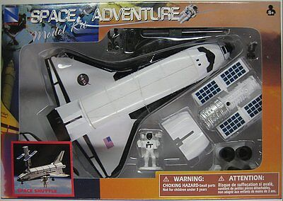 NEWRAY SPACE ADVENTURE MODEL KIT - SPACE SHUTTLE - Plastic Play Set Assembly