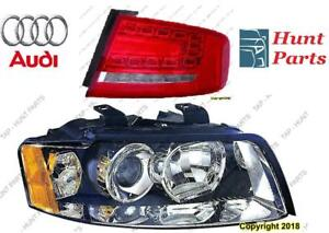 All Audi Head Lamp Tail Headlight Headlamp light Fog Mirror Phare Avant Arrière Antibrouillard Lumière Brouillard Miroir