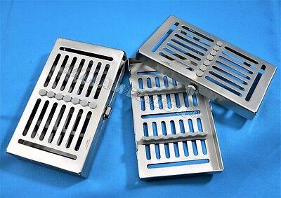 1 German Dental Autoclave Sterilization Cassette Rack Box Tray For 7 Instrument